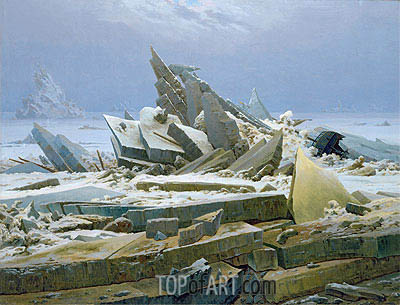 The Polar Sea (The Sea of Ice), 1824 | Caspar David Friedrich | Gemälde Reproduktion