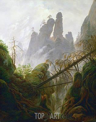 Caspar David Friedrich | Rocky Ravine, c.1822/23
