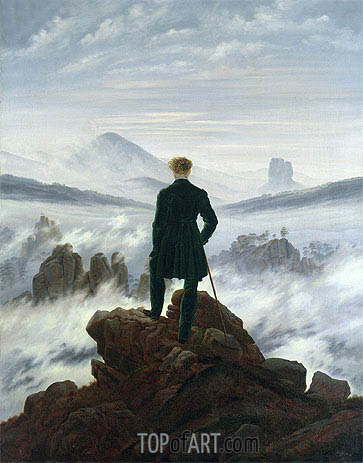 The Wanderer Above a Sea of Mist, 1818 | Caspar David Friedrich| Painting Reproduction