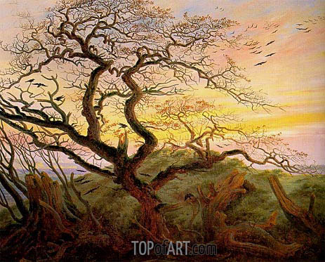The Tree of Crows, c.1822 | Caspar David Friedrich | Painting Reproduction