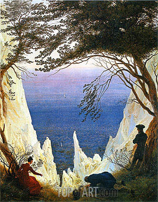 Chalk Cliffs on Rugen, 1818 | Caspar David Friedrich | Painting Reproduction