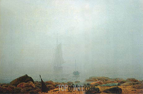 Mist, 1807 | Caspar David Friedrich | Painting Reproduction