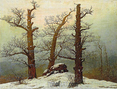 Dolmen in the Snow, 1807 | Caspar David Friedrich| Painting Reproduction