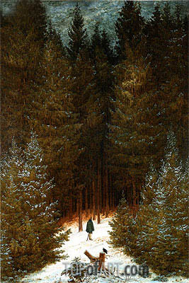 The Chasseur in the Woods, c.1813/14 | Caspar David Friedrich| Painting Reproduction