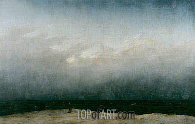 Caspar David Friedrich | The Monk by the Sea, c.1808/10