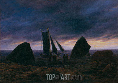 Caspar David Friedrich | Fishing Boat by the Baltic Sea, c.1830/35
