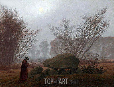A Walk at Dusk, c.1830/35 | Caspar David Friedrich | Painting Reproduction