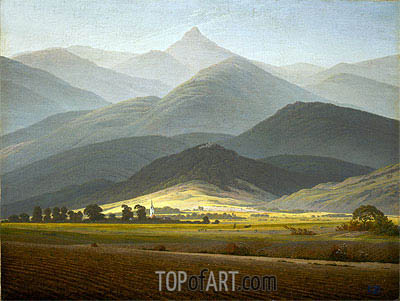 Landscape from Riesengebirge, c.1810 | Caspar David Friedrich| Painting Reproduction
