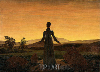 Woman before the Setting Sun, c.1818 | Caspar David Friedrich | Gemälde Reproduktion