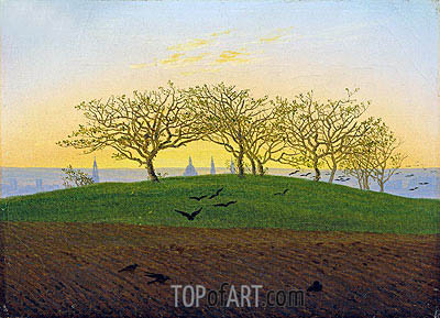 Hills and Ploughed Fields near Dresden, undated | Caspar David Friedrich | Painting Reproduction