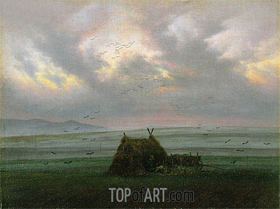 Waft of Mist, c.1818/20 | Caspar David Friedrich| Gemälde Reproduktion