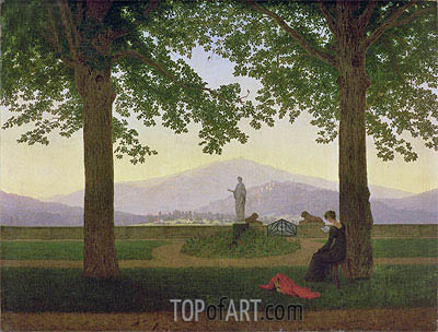 Garden Terrace, 1811 | Caspar David Friedrich | Painting Reproduction