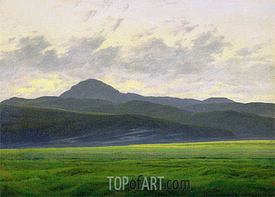 Mountainous Landscape, undated | Caspar David Friedrich | Painting Reproduction