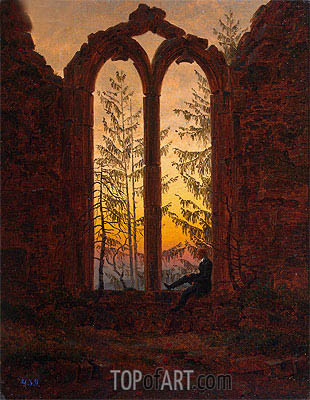 Dreamer, c.1835 | Caspar David Friedrich| Painting Reproduction