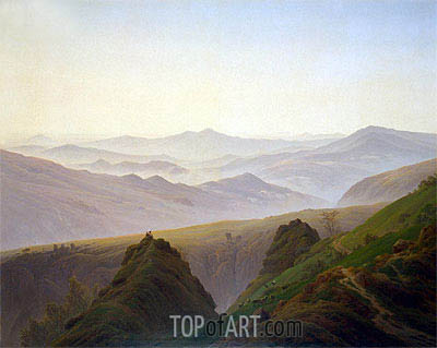 Morning in the Mountains, c.1823 | Caspar David Friedrich | Painting Reproduction