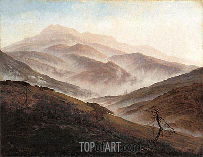 Caspar David Friedrich | Riesengebirge Landscape with Rising Fog, c.1819/20