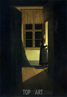 The Woman with the Candlestick, 1825 | Caspar David Friedrich | Painting Reproduction