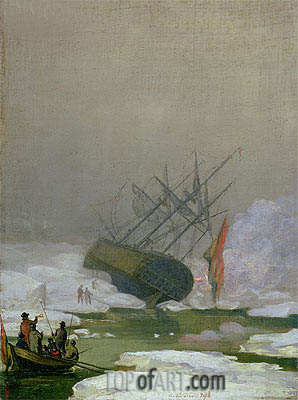 Ship in the Polar Sea, 1798 | Caspar David Friedrich | Painting Reproduction