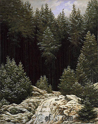 Early Snow, c.1828 | Caspar David Friedrich| Painting Reproduction
