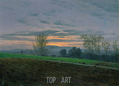 Ploughed Field, c.1830 | Caspar David Friedrich| Painting Reproduction