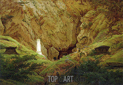 Graves of Ancient Heroes, 1812 | Caspar David Friedrich| Gemälde Reproduktion