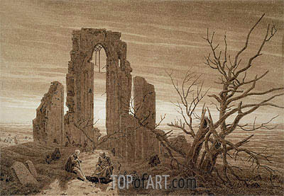 Winter (Eldena Abbey near Greitswald), undated | Caspar David Friedrich | Painting Reproduction