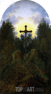 Cross in the Mountains, c.1815/20 | Caspar David Friedrich | Painting Reproduction