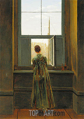 Woman at a Window, 1822 | Caspar David Friedrich | Painting Reproduction