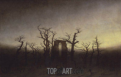 Abbey among Oak Trees, c.1809/10 | Caspar David Friedrich | Gemälde Reproduktion