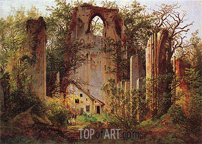 Monastery Ruins Eldena, 1825 | Caspar David Friedrich | Painting Reproduction