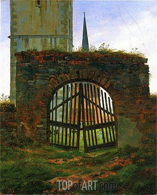 Caspar David Friedrich | The Cemetery (Churchyard Gate), c.1825/30