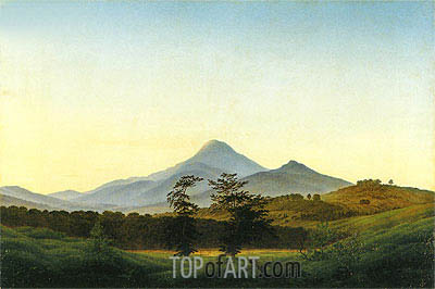 Bohemian Landscape, c.1810/11 | Caspar David Friedrich | Painting Reproduction