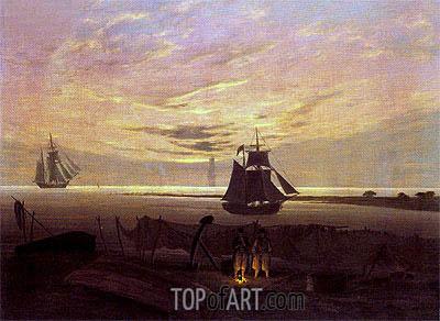 Caspar David Friedrich | Evening on the Baltic Sea, c.1831