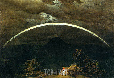 Mountainous Landscape with Rainbow, c.1810 | Caspar David Friedrich | Painting Reproduction