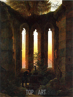 Hutten's Tomb, c.1823/24 | Caspar David Friedrich | Painting Reproduction