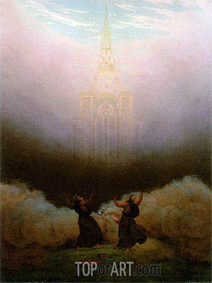 Vision of the Christian Church, c.1820 | Caspar David Friedrich | Gemälde Reproduktion