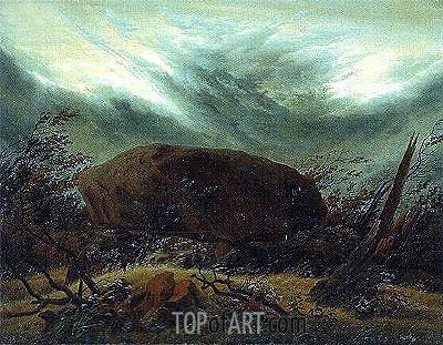 Dolmen in Autumn, c.1820 | Caspar David Friedrich | Painting Reproduction