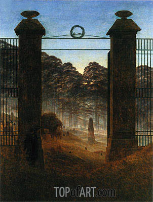 The Cemetery Entrance, 1825 | Caspar David Friedrich| Painting Reproduction