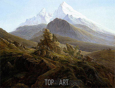 The Watzmann, c.1824/25 | Caspar David Friedrich | Painting Reproduction