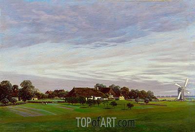 Caspar David Friedrich | Flat Countryside (Isle of Ruegen near Greifswald), c.1822/23