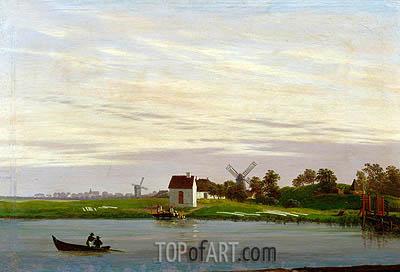 Caspar David Friedrich | Landscape with Windmills, c.1822/23