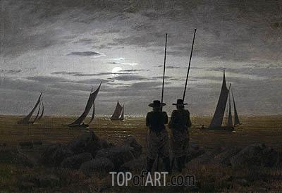 Caspar David Friedrich | Moonlit Night on the Beach with Fishermen, 1817
