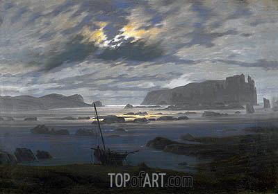Caspar David Friedrich | Northern Sea by Moonlight, undated