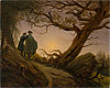 Two Men Contemplating the Moon | Caspar David Friedrich