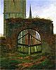 The Cemetery (Churchyard Gate) | Caspar David Friedrich