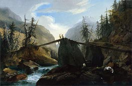 Wooden Bridge over the Lutschine near Gsteig, c.1774/77  von Caspar Wolf | Gemälde-Reproduktion