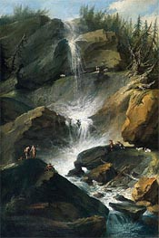The Upper Staubbachfall in the Lauterbrunnen Valley | Caspar Wolf | outdated