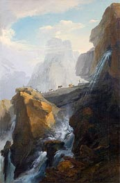 Landscape with Waterfall | Caspar Wolf | outdated