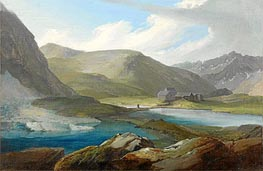 The Gotthardpasshohe with the Three Lakes and the Refuge | Caspar Wolf | outdated
