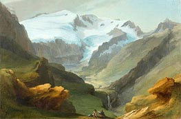 Look at the Lauenen Valley with Geltengletscher and Geltenhorn | Caspar Wolf | outdated